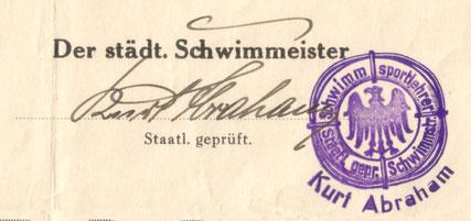 Mein Urgroßvater war Schwimmmeister in Stettin