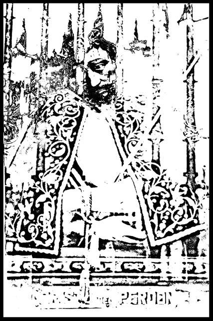 Photographie, Espagne, Andalousie, Séville, puerta del Perdon, patio de las narajas, cathédrale, Christ, éléments, gratté jusqu'à l'os, Mathieu Guillochon