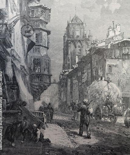 Bild einrahmen lassen, alte Ansicht von Bern