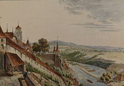 Bilder einrahmen lassen Bern; Bild mit Münster und Aare