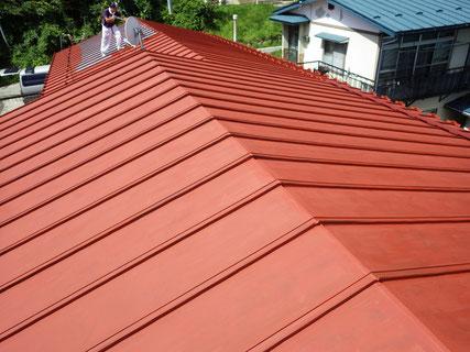 屋根サビ塗装後