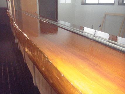 テーブルカウンター塗装