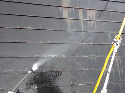 盛岡市屋根高圧洗浄
