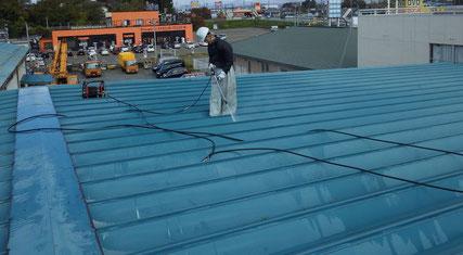花巻市屋根高圧洗浄