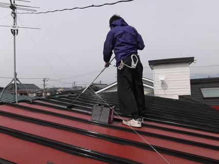 盛岡市、屋根塗装