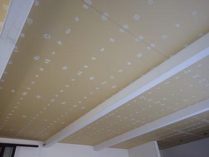 車庫天井塗装前