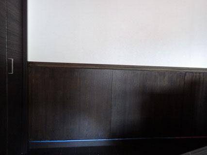 木腰壁塗装