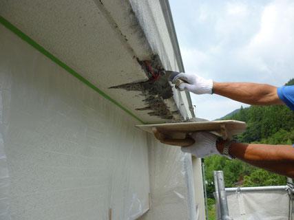岩手県岩泉、外壁補修