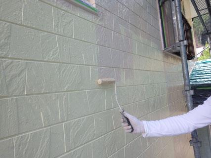 外壁上塗り工程