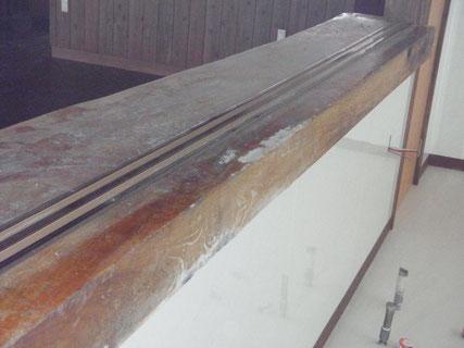 岩手、テーブルカウンター塗装