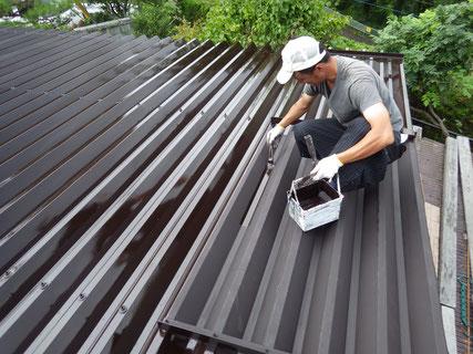 盛岡市折板屋根塗装