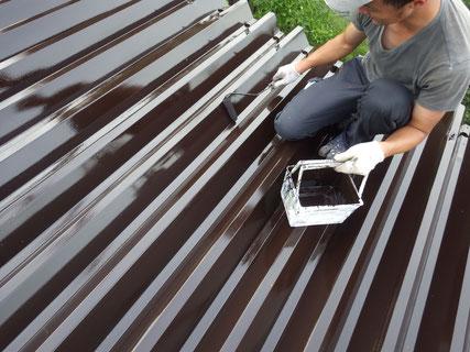 盛岡市折板屋根上塗り