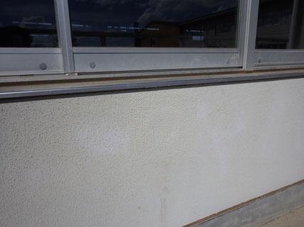 外壁部分補修塗装後