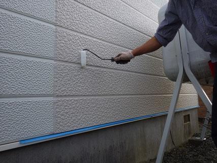 盛岡市外壁下塗り