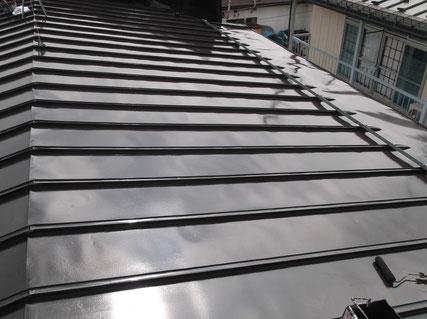 盛岡市、屋根塗装後