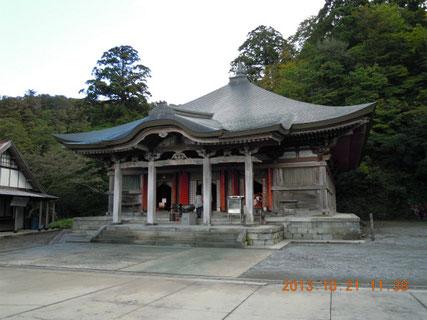 本尊地蔵菩薩が安置された、大山寺本堂