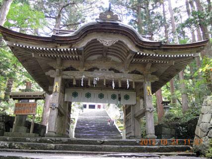 大神山神社 神門(逆門、後向き門)