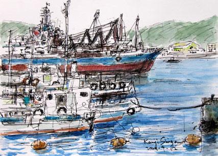 神奈川県・浦賀港の船