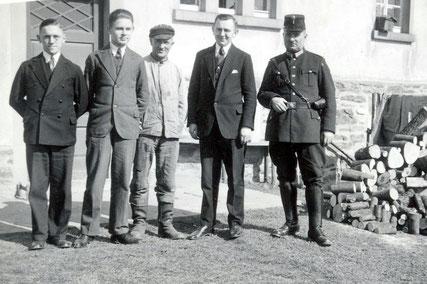 Bild: Wünschendorf Gemeindevorstand in den dreißiger Jahren