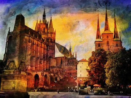 """Dieses Bild zeigt symbolisch eine Kathedrale. Kathedralen sind Orte des Glaubens. Wen sich viel Gläubige an einem solchen Ort treffen, dann entsteht ein Gefühl der Verbundenheit. Dies nennt man Kohärenz. Darum heißen Kathedralen auch """"Häuser der Kohärenz"""""""