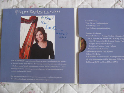 一番新しいCDにサインをいただきました。キムはいつまでも私のお手本、先生です。