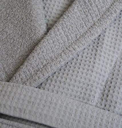 Waffle and terry bathrobe manufacturer