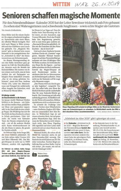 Zeitungsartikel Yvonne Dibowski-Zanera Zauberina