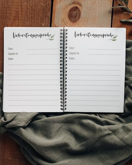 Hochzeit Erinnerung Verlobung Planung Notizen
