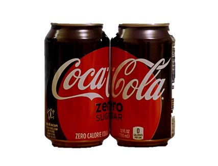 Zwei Dosen Coca Cola Zero