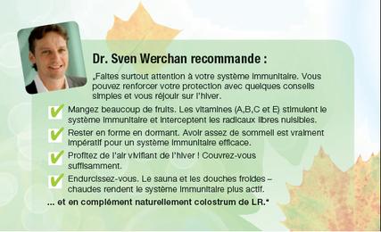 Dr. Sven Werchan recommande : le colostrum | LR utilise exclusivement le COLOSTRUM de haute qualité, qui est uniquement extrait de lait au colostrum excédentaire. • Non pasteurisé : un procédé de fabrication à froid breveté, de haute qualité et purifiant