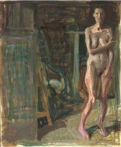 F. Dupuis, Nu dans l'atelier, 63 x 30.