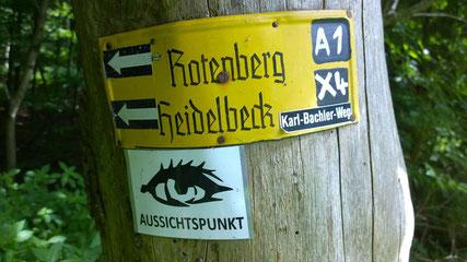 Wanderkennzeichnung für den A1  © Lippe Tourismus & Marketing GmbH