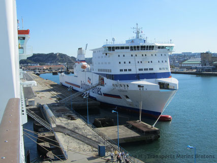Cotentin berthed on a Thursday in Cherbourg-en-Cotentin.