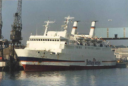 Armorique berthed in the 80s.