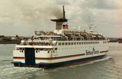 Duc de Normandie arriving in Portsmouth.