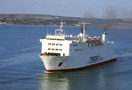 Havelet arriving in Weymouth, operated by Condor Ferries.