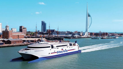 Normandie Express arriving in Portsmouth in 2016.