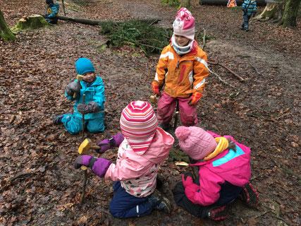 Die Kinder sollen möglichst selbständig spielen