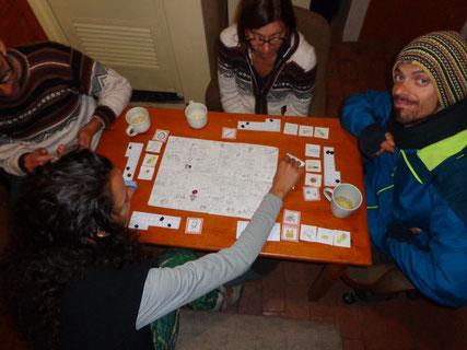 Soirée test du jeu en famille, au Pérou.