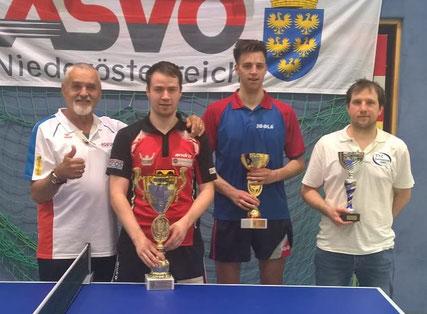 Sierndorfs Bundesligaspieler Martin Kinslechner verteidigte erfolgreich seinen Titel im Herren Einzel offen und krönte sich damit ein weiteres Mal zum Landesmeister!