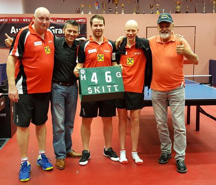 Tomas Janci, Albert Wilder, Martin Kinslechner, Dominik Tarmann und Helmut Faltinger in Baden.