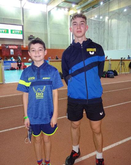 Simon Wilder und Johannes Maad beim Turnier in Klagenfurt.