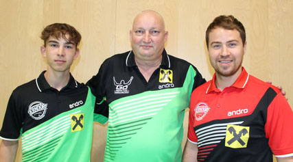 Ein starkes Team: Johannes Maad, Tomas Janci und Martin Kinslechner.