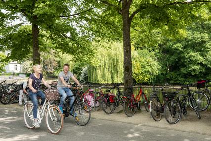 Radfahrer in Detmold © Themenmanagement Radfahren Teutoburger Wald Tourismus, R. Lang