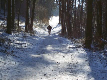 Radfahrer im Winter © Teutoburger Wald Tourismus