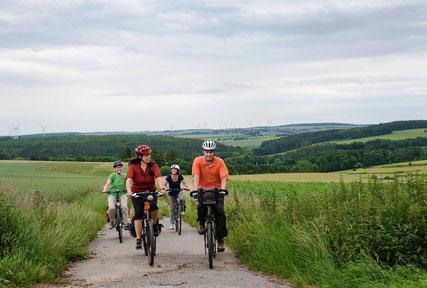 Fahrradfahrer auf der Paderborner Rundtour © Tourist Information Paderborn