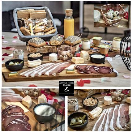 Le copieux petit déjeuner terroir des week-end au Glam88 Vosges
