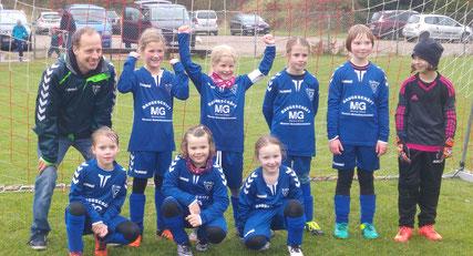 Die F-Mädchen der SG Oldesloe/Reinfeld beim Turnier in Tensfeld