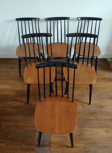 JOLI, Chaises Tapiovaara, chaises Fanett, chaises années 50