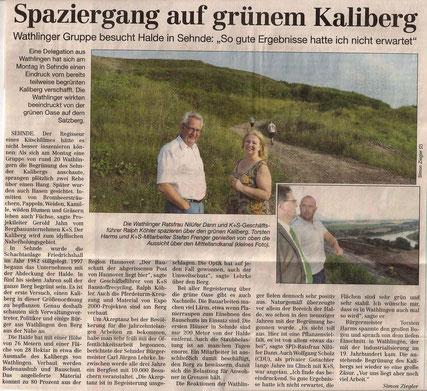 Quelle: Cellesche Zeitung, 30.07.2014